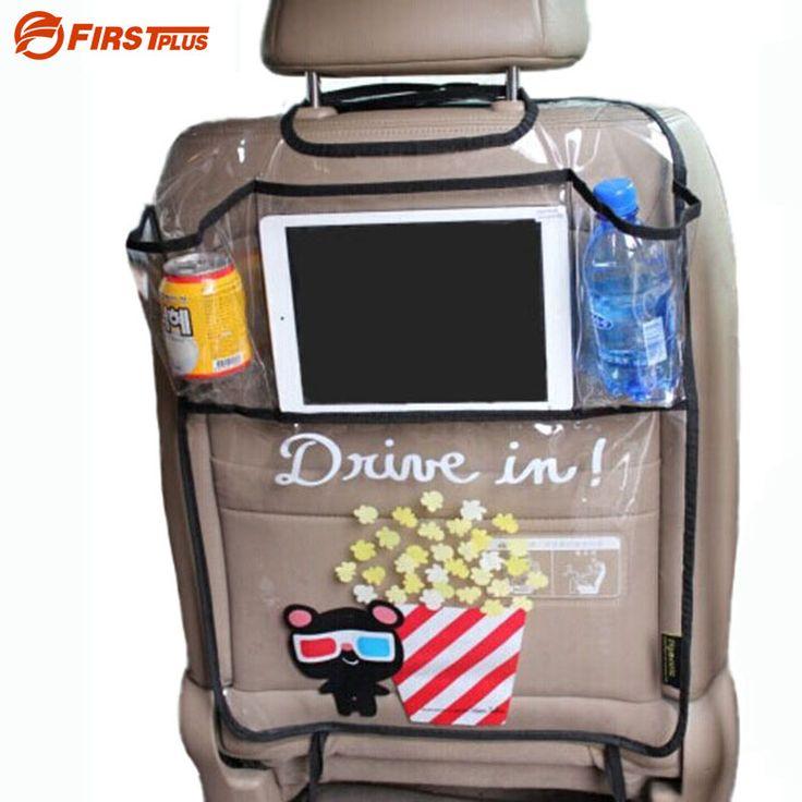Espesar PVC Ambiental Estera Cubierta de Asiento Trasero Del Coche Protector de Patadas para los niños niño asientos-con el organizador para ipad y bebida