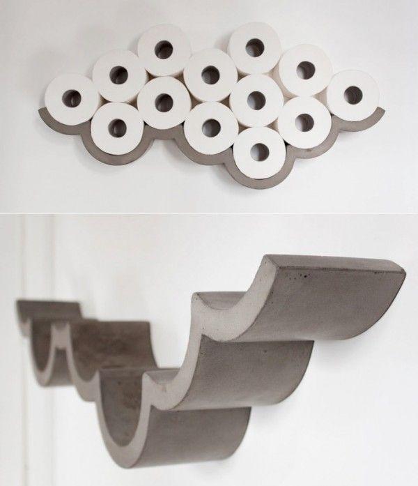 25 melhores ideias de suporte de papel higienico no for Storage for toilet rolls