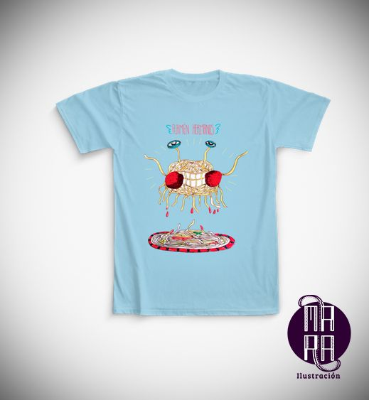 Camiseta Pastafari para hombre Colores disponibles: Blanco - Negro - Azul Tallas disponibles: S - M - L - XL - XXL http://camaloon.es/descubre/artistas/mara-ilustracion/creaciones/black-cat-white-cat/camisetas-personalizadas/camisetas-personalizadas-hombre/productos