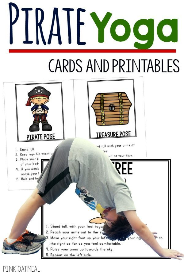FUN pirate activities for kids!  Great for a pirate themed classroom, pirate unit, or fun for anyone who loves a pirate theme.  I love the different kids yoga poses and gross motor moves.  Great for kinesthetic learning.  Anyone can do these so much fun!