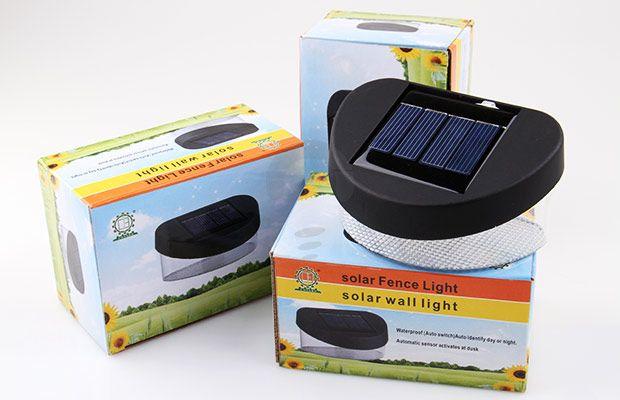 Solar 8 LED Light Lampu tenaga surya yang akan otomatis menyala di malam hari. Rp 109.000