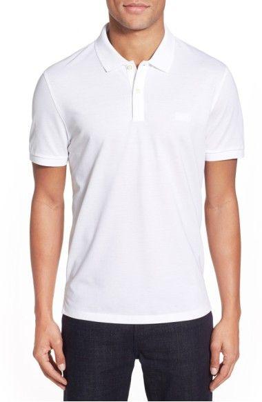 BOSS 'Pallas' Regular Fit Logo Embroidered Polo Shirt. #boss #cloth #