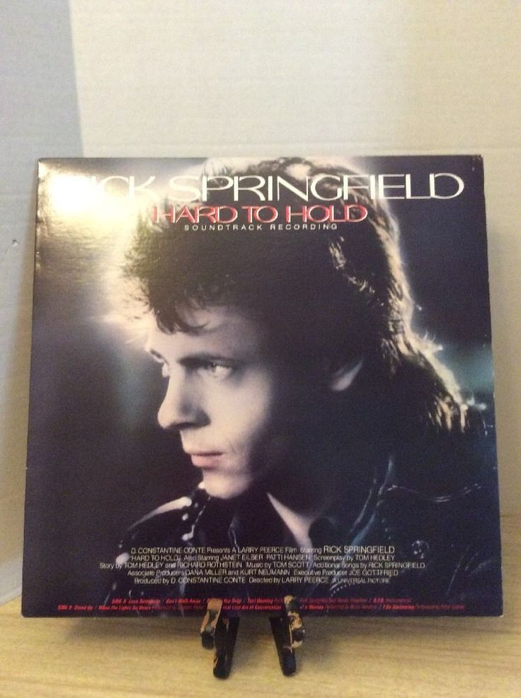 Rick Springfield Hard To Hold Sound Track Record