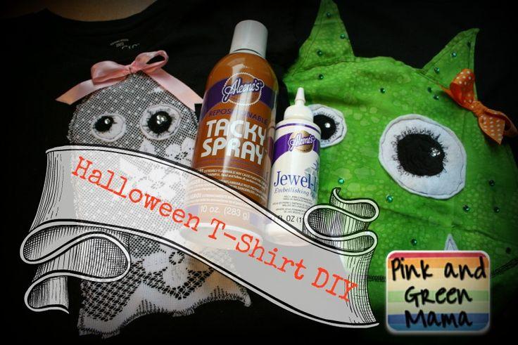 Pink and Green Mama: DIY Halloween Shirts Tutorial With Aleene's Glue!