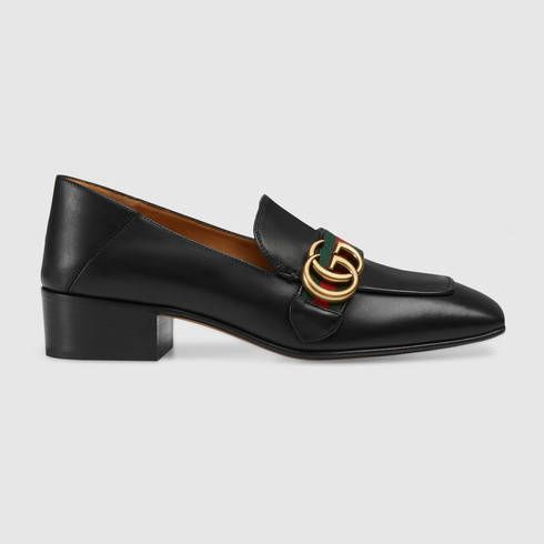 1e43474e1 GUCCI Leather Double G Loafer. #gucci #shoes #women's moccasins & loafers |  Gucci | Black loafer shoes, Loafers, Gucci loafers