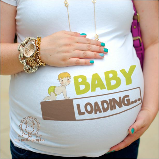 Baby Loading..- Tshirt for mommy to be…