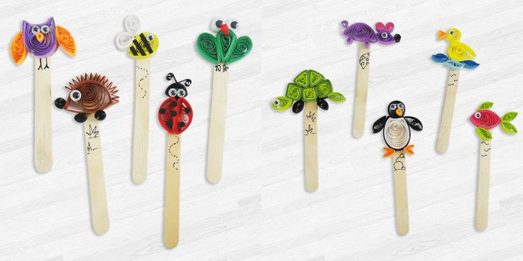 11710a42f6f48f615bf2e7a4dfa58f82 quilling tutorial quilling ideas - Quilled Animal Bookmarks