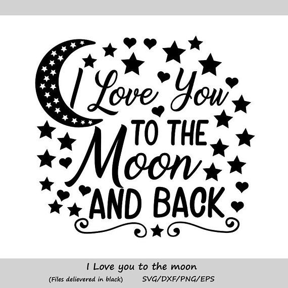 eps Silhouette svg dxf baby wall art I love my mommy to the moon and back mommy love baby mom baby quote Svg nursery room Cricut