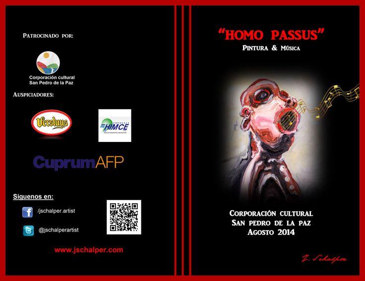 Exposición de pintura & música en Corporación Cultural San Pedro de la Paz. Agosto 2014.-