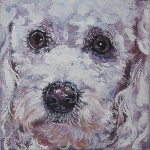 Portrait de caniche art toile imprimer de Shepard de LA peinture de 12 x 12