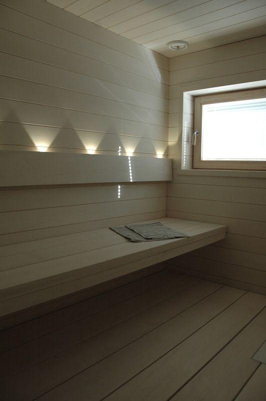 moderni puutalo: Sauna pähkinänkuoressa
