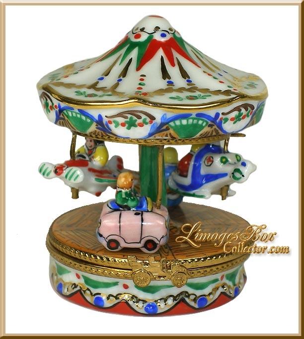 Carousel Merry-Go-Round Limoges Box - Retired