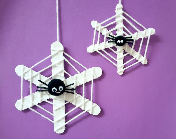 spider web Halloween craft
