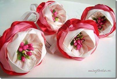 Fabric flowers tutorial 1
