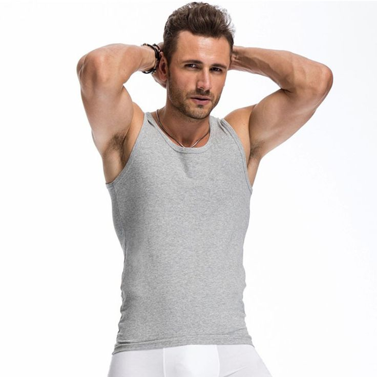 2017 Summer Solid Color Cotton Tank Top Fitness Men clothing Sexy Sleeveless O-neck T Shirt Bodybuilding Undershirt Plus Size