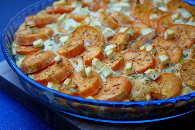 Madlaboratoriet: Spinat-pie med sweet potato og feta