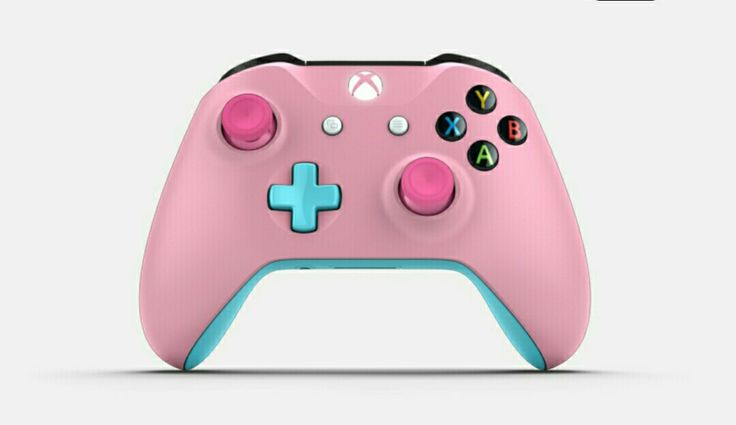Geek girl controller for Xbox One My style  baby pink body, baby blue, original ABXY  #vanillanessie  #custom #xbox One controller