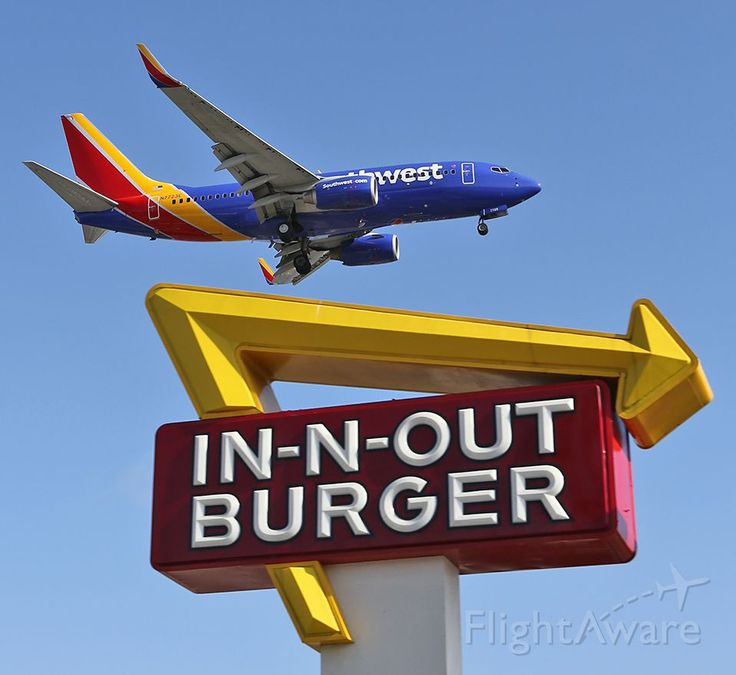 Southwest B737 N7723e Following The In N Out Burger