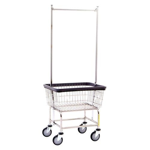 Rb Laundry Basket And Cart With Full Length Hanging Rod On 2