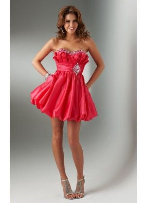 Modest Strapless Mini Satin A-line Sleeveless Prom Dresses - Wedding Dresses