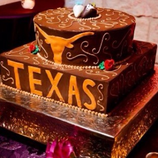 Groomsmen Texas Longhorn Cake--im sure this will be happening at my wedding.  ;)
