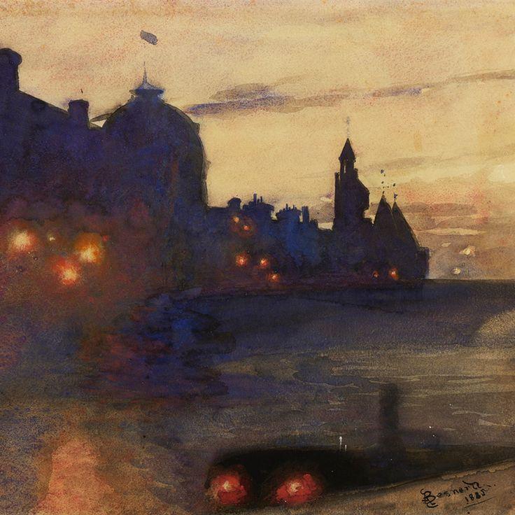 poboh: Light-night, 1885, Paul-Albert Besnard. French ...
