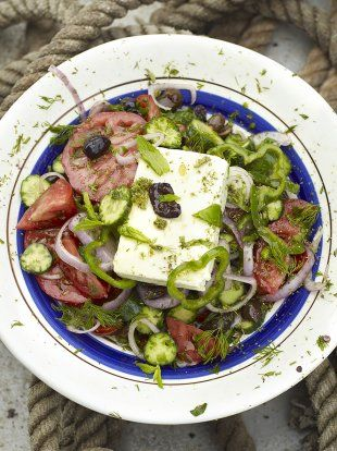 Jamie Oliver Greek salad The classic way with juicy tomatoes, olives and crumbly feta