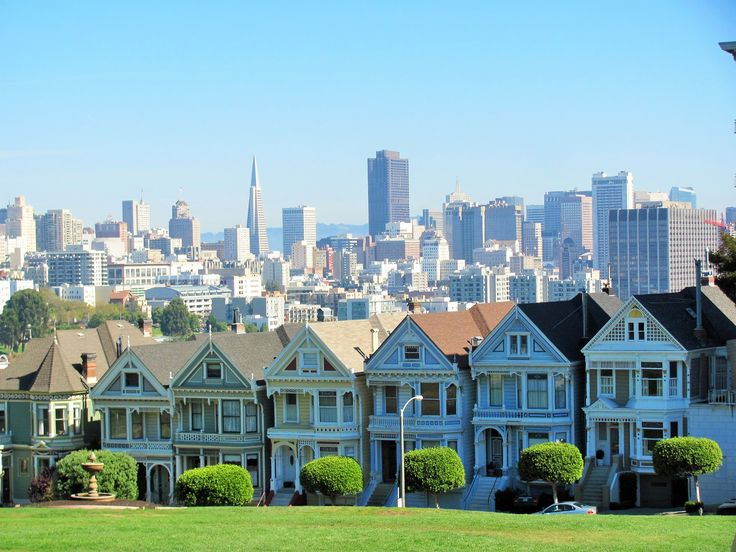 """The """"Painted ladies"""" San Francisco, USA"""