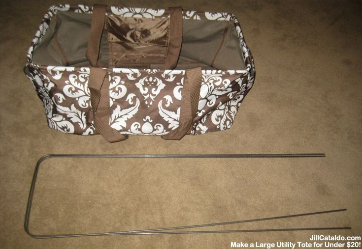 How to make a large utility tote for less than $20 | Jill Cataldo