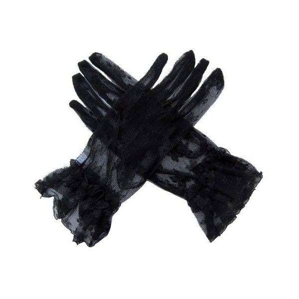 Amazon.com: SACAS Sexy Lace Gloves in Navy Dark Blue one size:... ($13) ❤ liked on Polyvore