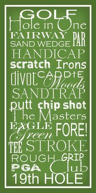 Great golf fonts!