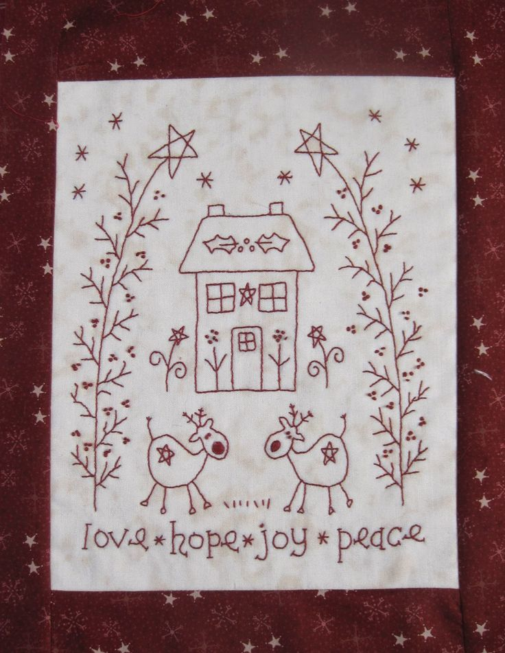 Christmas Sewing - The House on the Side of the Hill