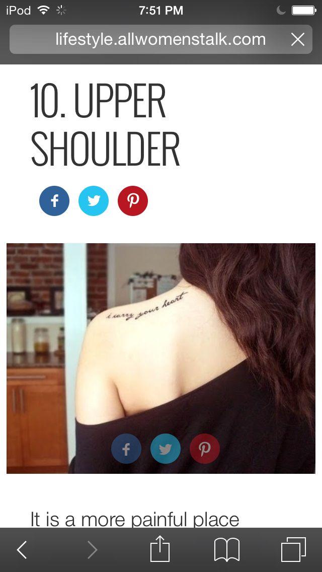 pretty upper shoulder tattoo