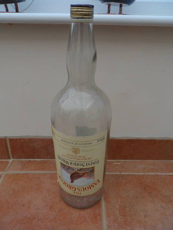 Large Famous Grouse Whisky Empty Bottle   Vintage decorative