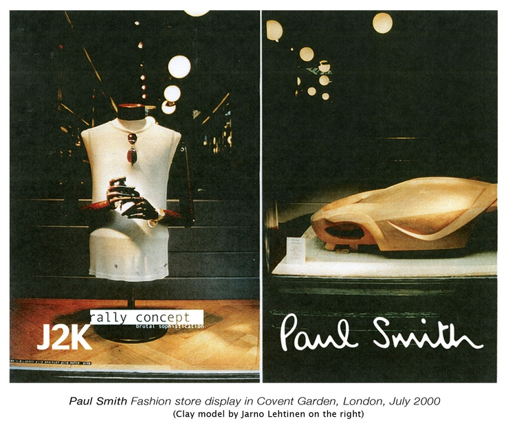 Jarno Lehtinen, Clay Model on Paul Smith Display in London, 2000 (Model shown on right)