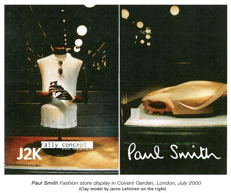 Jarno Lehtinen, Clay Model on Paul Smith Display in London, 2000 (Model shown on right)