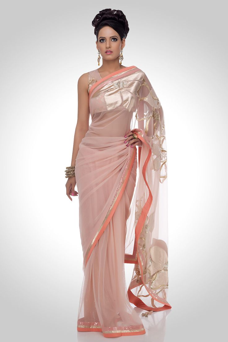indian+sari+style+in Pink