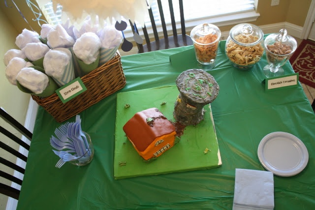 Excellent ideas for a #tornado birthday party for your little one who loves storms. I could imagine my mom doing something like this for me. Instead of a tornado cake, as it might be now, it was a Saturn Rocket. Love!