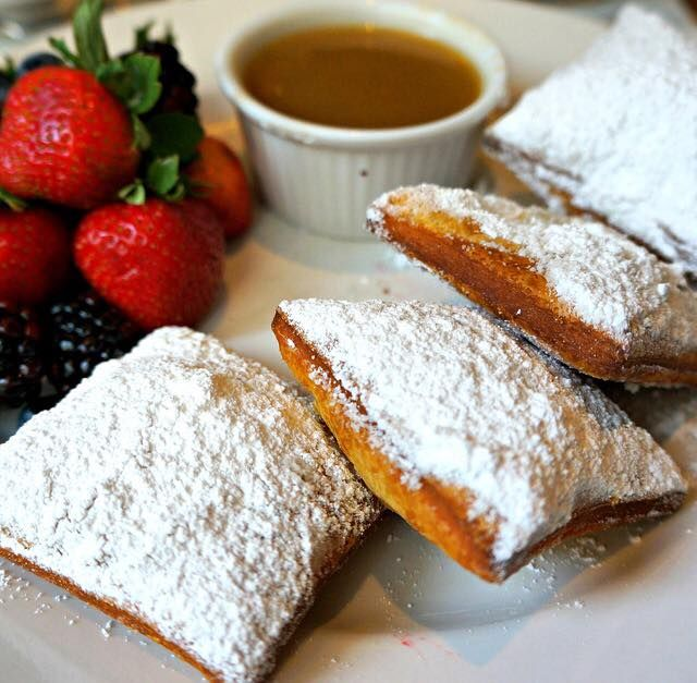 The guests were nestled all snug in their beds while visions of beignets danced in their heads.