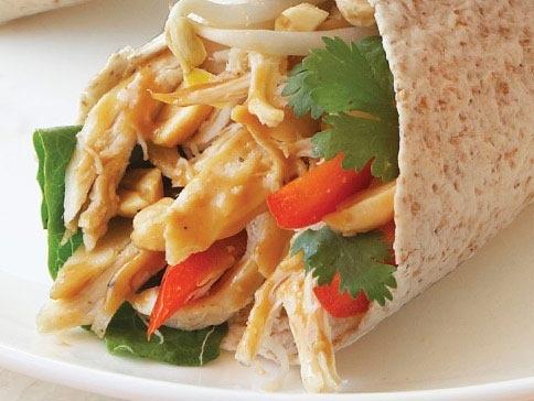Thai Chicken Wraps | recipes | Pinterest