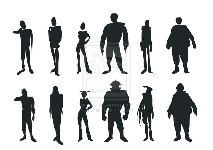 Character Design Silhouette Tutorial : Character silhouette practice by lushan viantart on