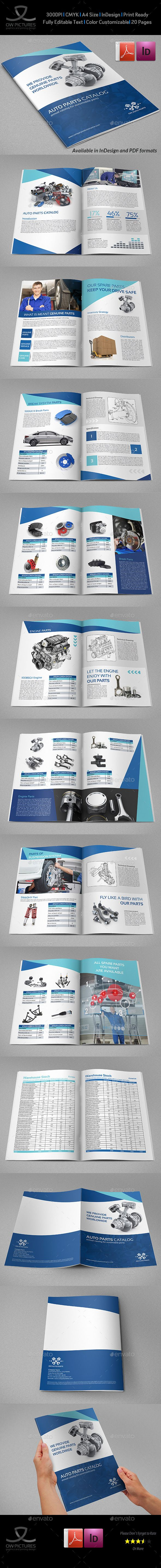 Auto Parts Catalog Brochure Template - 20 Pages Template #design Download: http://graphicriver.net/item/auto-parts-catalog-brochure-template-20-pages/13183387?ref=ksioks
