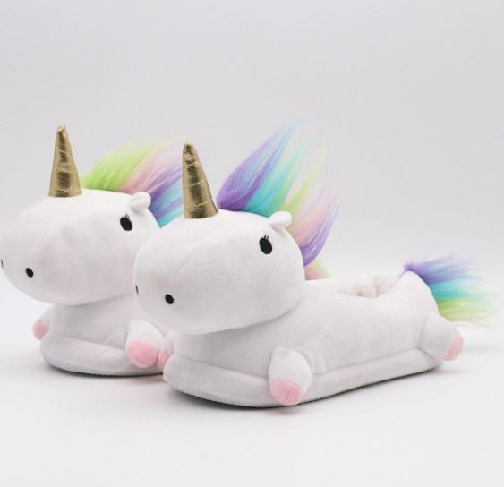 How do you get this magical boost? With Plush Unicorn Slippers, of course!