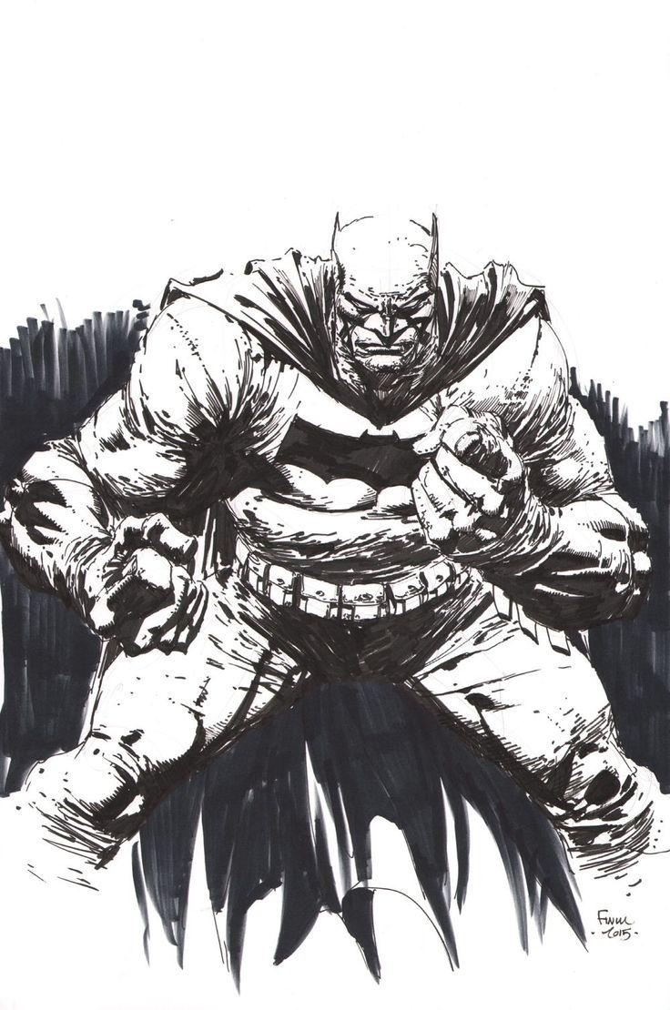 David Finch Original Dc Arte esboço Batman Dark Knight Raça Superior assinado dkiii