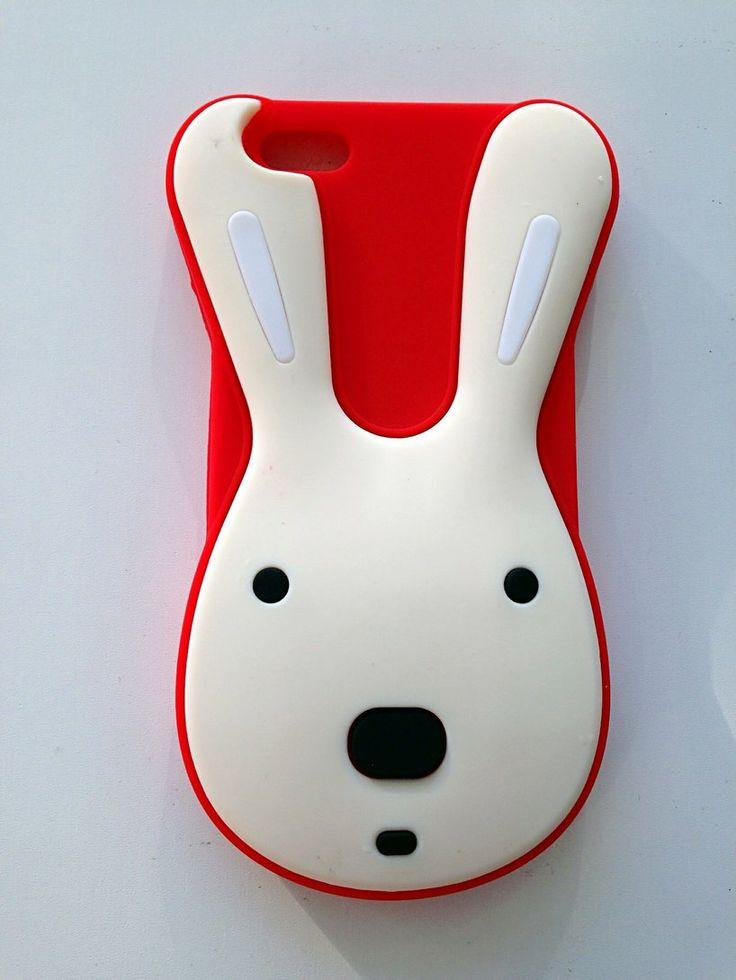 Carcasa silicona Conejo rojo Iphone 5G/5S/5C a 5,95€ Envíos incluidos www.mcase.es