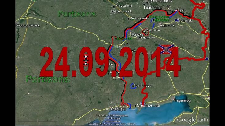 From Archive Current Situation Sept 24 Map Fighting Donetsk Lugansk Mari...