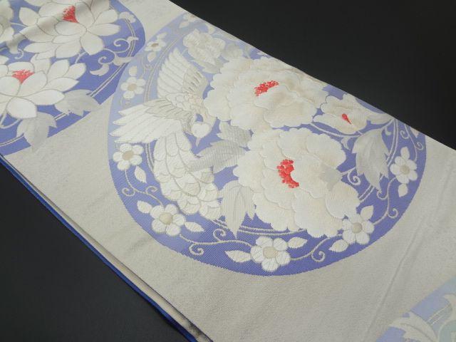 リサイクル 鏡裏に花鳳凰模様織り出し袋帯