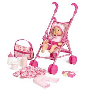 Kid Connection Baby Doll Stroller Play Set