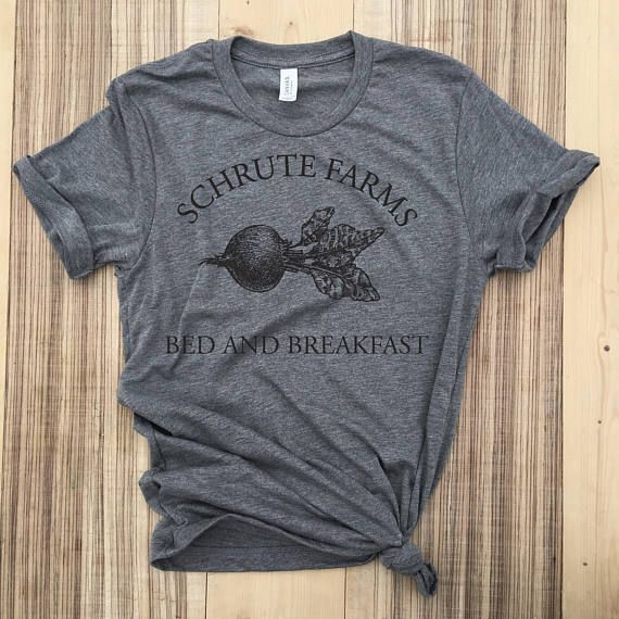 Schrute Farms Bed And Breakfast New Mens Shirt The Office Dwight Funny Humor Tee