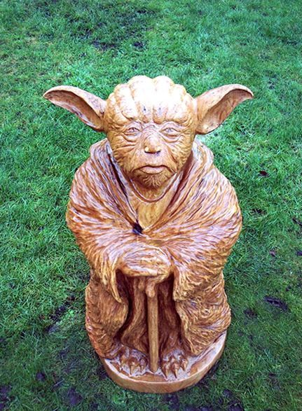 Tommy craggs tree sculpting i want yoda in my garden